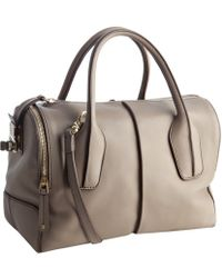 Tod's - Clay Leather D-styling Trunk Tote - Lyst