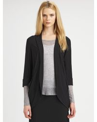 Eileen Fisher Stretch Shawl-collar Jacket - Lyst
