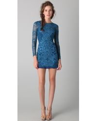 Matthew Williamson Long Sleeve Lace Dress - Lyst