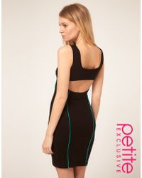 ASOS Collection Asos Petite Exclusive Bodycon Dress with Cut Out Back Detail - Lyst
