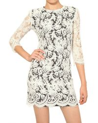 MSGM Lace Cotton Dress - Lyst