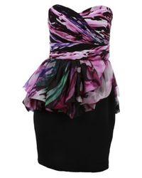 Notte by Marchesa Sculpted Bust Peplum Dress - Lyst