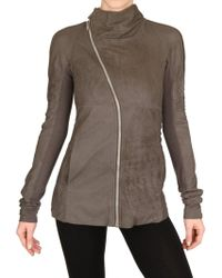 Rick Owens Side Zip Blistered Nappa Leather Jacket - Lyst