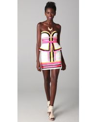 Sass & Bide Pick N Mix Embroidered Strapless Dress - Lyst