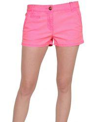Tommy Hilfiger Stretch Neon Twill Shorts - Lyst