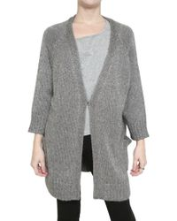 Twenty8Twelve Soft Knit Cardigan Sweater - Gray