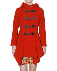 Vivienne Westwood Anglomania Hooded Double Coated Wool Coat - Lyst