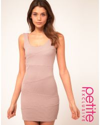 ASOS Collection  Bodycon Dress with Textured Rib - Lyst