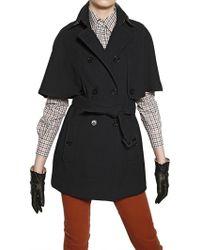 Daks Wool Milano Stitch Trench Coat - Blue