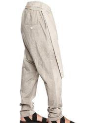 Damir Doma Cotton Poplin Wrap Pants - Natural