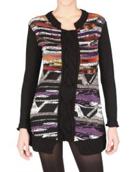 Didier Parakian | Wooven Knit Multi Color Sweater | Lyst