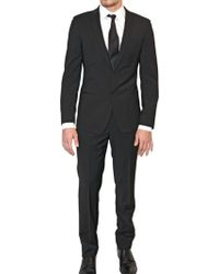 Dolce & Gabbana Stretch Wool Blend Canvas Suit - Lyst