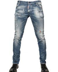 DSquared² 19cm Brushed Denim Slim Fit Jeans - Lyst