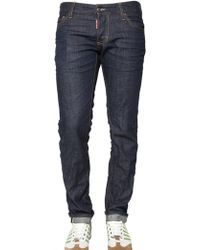 DSquared² 19cm Slim Fit Selvage Denim Jeans - Lyst