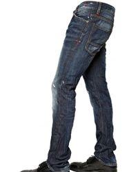 DSquared² 19cm Washed Denim Slim Fit Jeans - Lyst