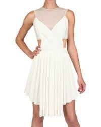 Hakaan | Viscose Crepe and Gauze Dress | Lyst