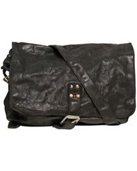 Officine Creative - Washed Leather Messenger Bag - Lyst