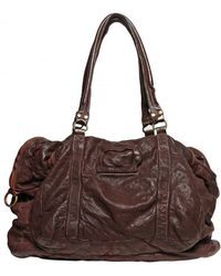 Officine Creative Washed & Distressed Leather Bag - Brown