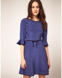 Boutique By Jaeger Star Print Skater Dress With 3 4 Length Sleeve - Lyst