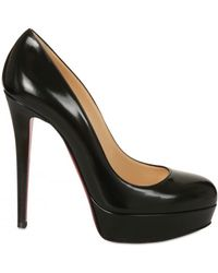 Christian Louboutin 140mm Bianca Brushed Leather Pumps - Lyst