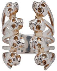 Delfina Delettrez Babel Skull Ring silver - Lyst