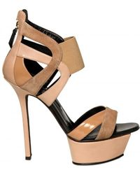Diego Dolcini 130mm Leather & Suede Sandals - Lyst
