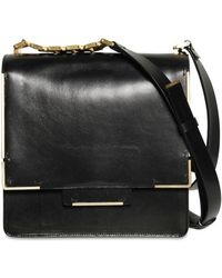 Lanvin Medium Flap Glossy Shoulder Bag - Lyst