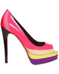 Ruthie Davis   130mm Patent Multicolor Peep Toe Pumps   Lyst