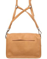 Theyskens' Theory Flap Smooth Shoulder Bag - Brown