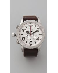 Nixon The 51-30 Chrono Leather Watch - Lyst