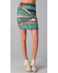 Torn By Ronny Kobo Twist Mini Skirt - Lyst