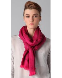 Tory Burch All Over T Scarf - Lyst
