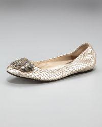 Vera Wang Lavender Bead-toe Ballerina Flat - Lyst