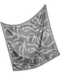 Ballantyne - Signature Silk Square Scarf - Lyst