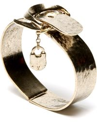 Low Luv by Erin Wasson Padlock Bracelet - Yellow Gold - Lyst