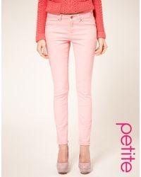ASOS - Asos Petite Pale Pink Skinny Jeans - Lyst