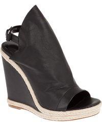 Balenciaga Wedge Sandal - Black