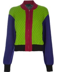 Jean Paul Gaultier Block Colour Quilted Jacket - Lyst