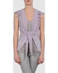 Just Cavalli Short Sleeve Shirt purple - Lyst
