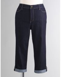 Not Your Daughter's Jeans - Plus-size Button Tab Capri Jeans - Lyst