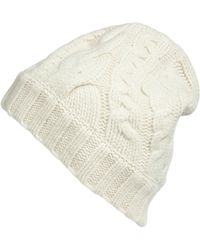 Cacharel Ecru Cable Knit Cap - Lyst