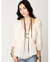 Free People Fp One City Peasant Blouse - Lyst