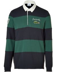 Lacoste Forest and Fir Striped Polo Shirt - Lyst