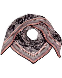 Matthew Williamson - Black and Blush Printed Square Scarf - Lyst