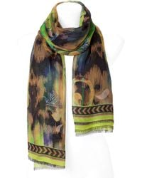 Matthew Williamson - Lime Multicolor Printed Scarf - Lyst