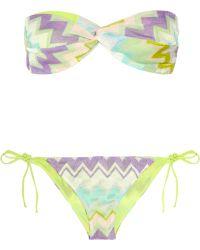 Missoni Danimarca Crochet-knit Bandeau Bikini - Lyst