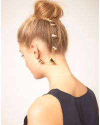 ASOS Collection | Asos Gold Bunting Ear Cuff | Lyst