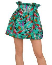 Caterina Gatta - Vintage Printed Crepe De Chine Skirt - Lyst