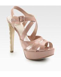 Dior Cannage-heel Platform Sandal - Pink