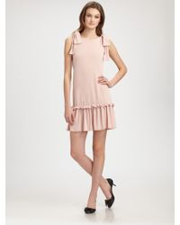 RED Valentino Bow-detail Jersey Dress - Lyst